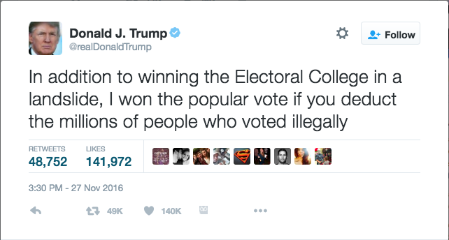 Trump Supporters Call to Abolish the Popular Vote
